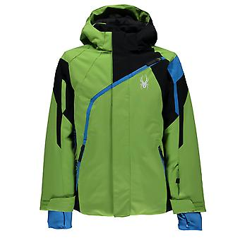 Spyder QUEST boy's Challenger young ski jacket lime green