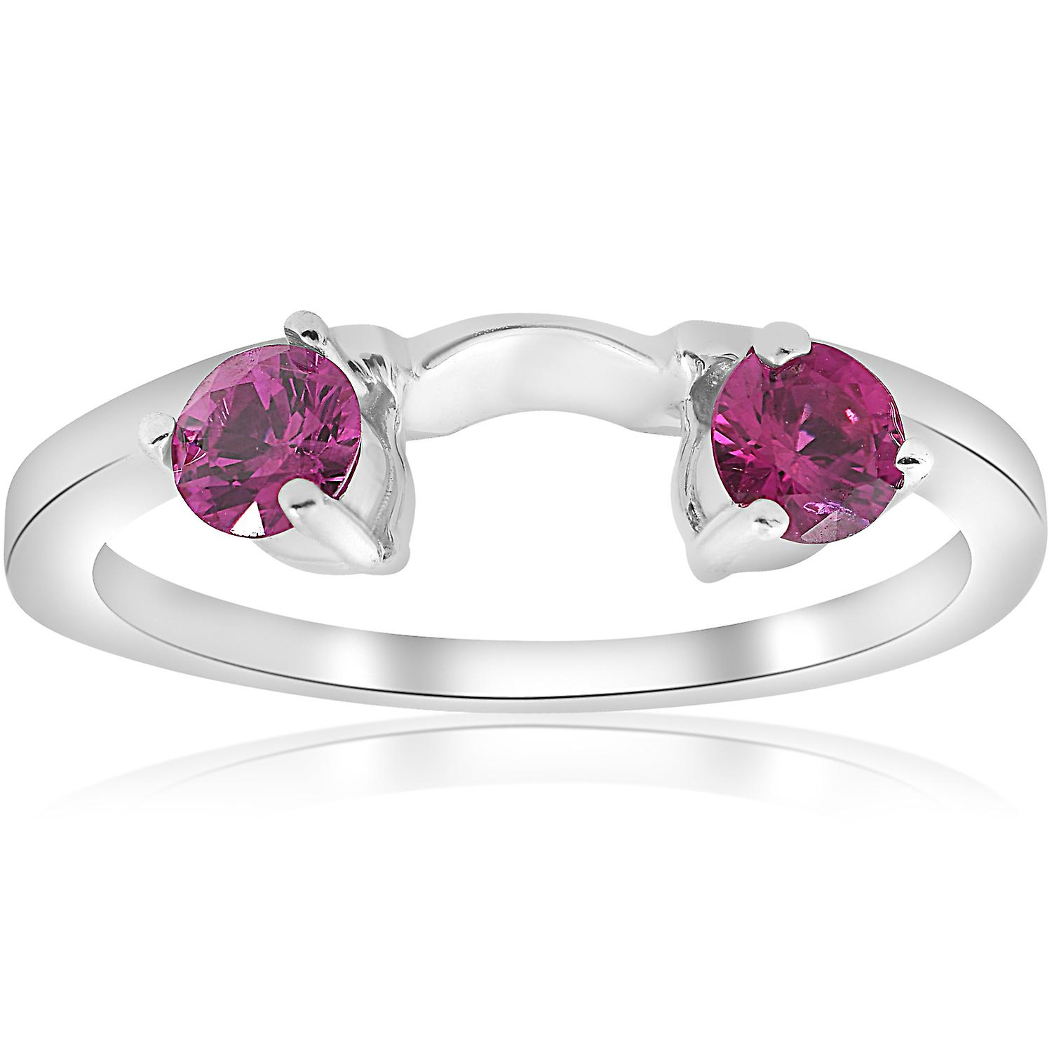 1 2ct Ruby Wrap EngageHommest Guard sacue 14K blanc or