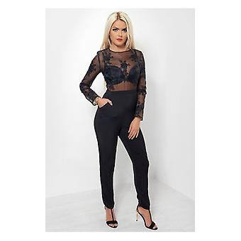 The Fashion Bible Hotel California Lace Jumpsuit
