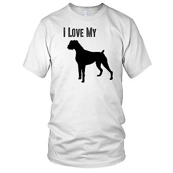 I Love MY Boxer Pet Dog Kids T Shirt
