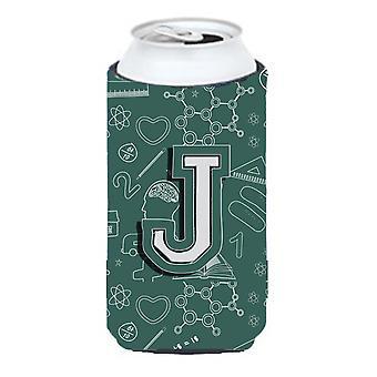 Litera J powrót do szkoły początkowej wysoki chłopiec napojów izolator Hugger