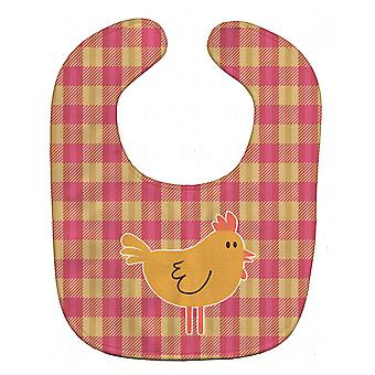Carolines Treasures  BB7090BIB Chicken Hen on Gingham Baby Bib