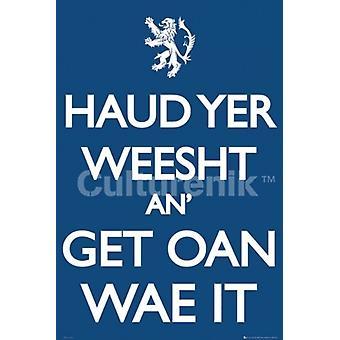 Scotland Keep Calm Poster Poster Print