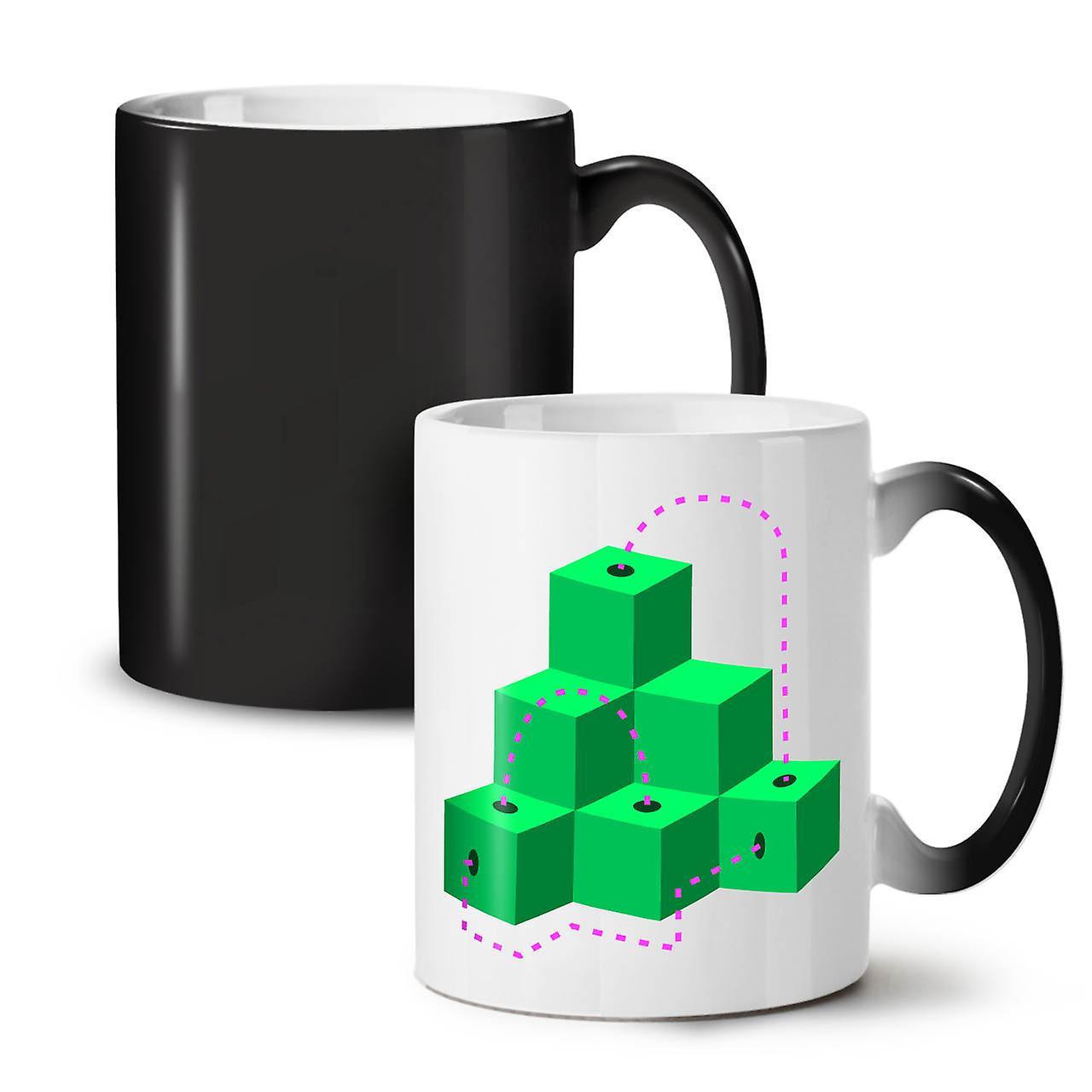 Tasse Mode Impression De Cube Thé Noir Céramique Café OzWellcoda Nouvelle Changeant Couleur 11 v8nmNw0