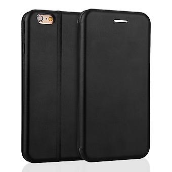 Yousave Accessories Iphone 6 And 6s Leather Effect Stand Wallet - Black