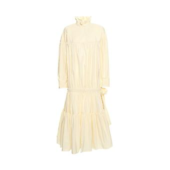 Kenzo women's F761RO0115HA03 beige/white polyester dress