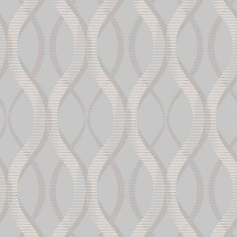 Modern Geometric Wallpaper Uptown Embossed Vinyl Textured Glitter Grey Silver