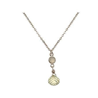 GEMSHINE necklace with smoky quartz and citrine. 925 Silver gemstone drop pendant on 45 cm chain. Made in Munich, Germany. Delivered in a fine case. Also as a SET with earrings.