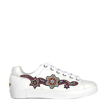 Ash Footwear Namaste White Leather Beaded Trainer