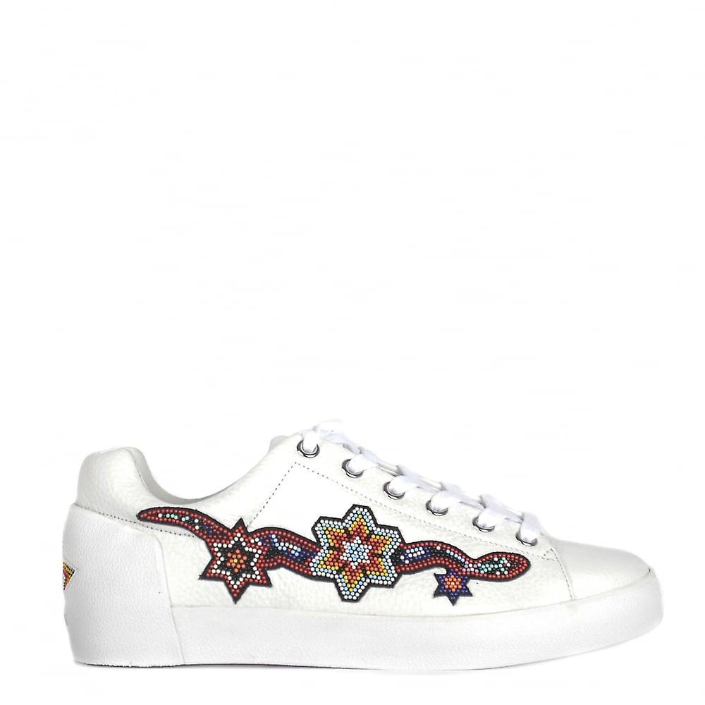 Ash scarpe Namaste bianca Leather Trainer di perline | Pacchetto Elegante E Robusto  | Uomini/Donne Scarpa