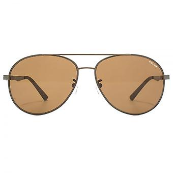 Police Court 1 Pilot Sunglasses In Matte Dark Brown Polarised