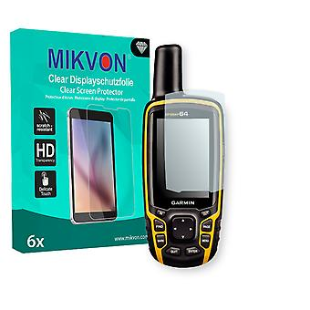 Garmin GPSMAP 64 Screen Protector - Mikvon Clear (Retail Package with accessories)