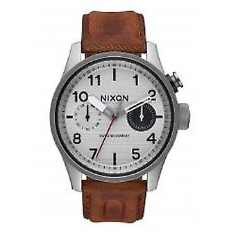 Nixon The Safari Deluxe Leather Silver / Brown (A9771113)