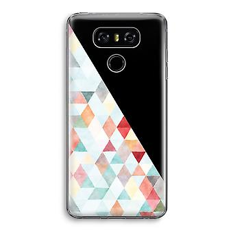 LG G6 Transparent Case - Coloured triangles pastel