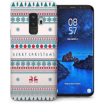 Samsung Galaxy S9 Plus glædelig jul TPU Gel sag-blå