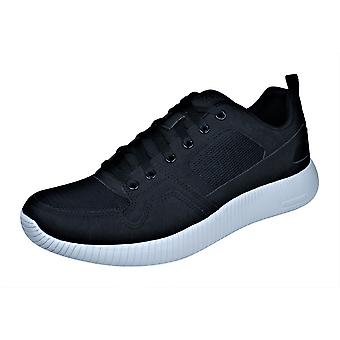 Mens Skechers formateurs Depth Charge Eaddy Casual chaussures - noir