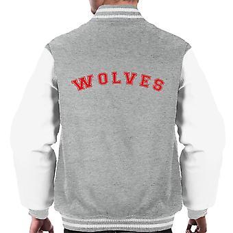 Wölfe Baseball Style Font Männer Varsity Jacket
