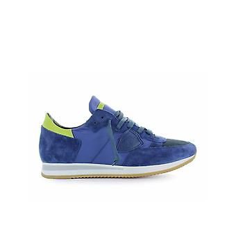 PHILIPPE MODEL TROPEZ MONDIAL BLUE YELLOW SNEAKER