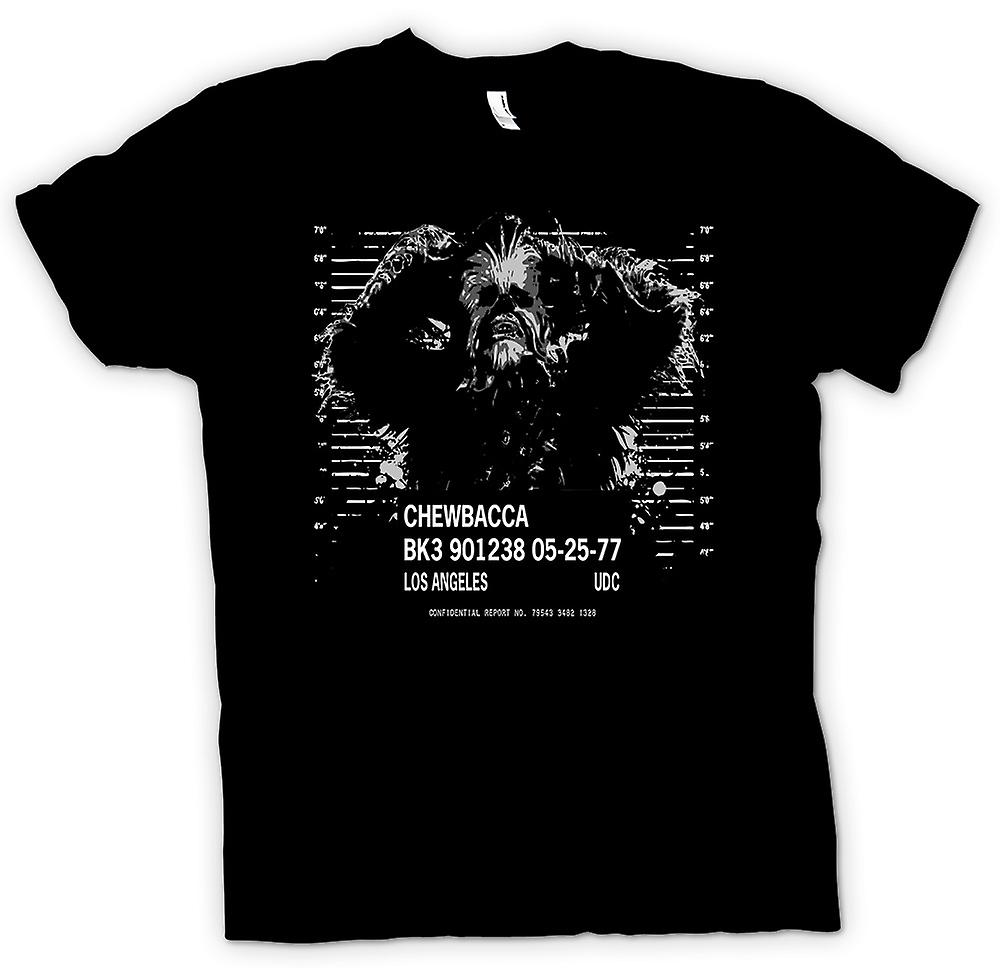 Mens T-shirt - Chewbacca Mug Shot - StarWars