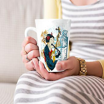 Japanese Music Fantasy NEW White Tea Coffee Ceramic Latte Mug 17 oz | Wellcoda