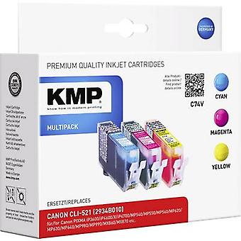 KMP Ink replaced Canon CLI-521 Compatible Set Cyan