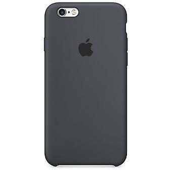 التعبئة والتغليف الأصلي أبل سيليكون الغطاء الحال بالنسبة لأي فون 6 6 S انثراسايت رمادية