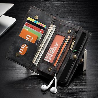 CaseMe Tasche für Apple iPhone X / XS 5.8 Geldbeutel + Schutz Hülle + Etui Schwarz