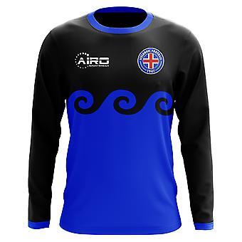 2018-2019 Island dritte Konzept Fußball Hemd mit langen Ärmeln (Kids)