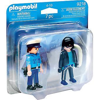 Playmobil 9218 Collectable politimann og innbruddstyv Duo Pack
