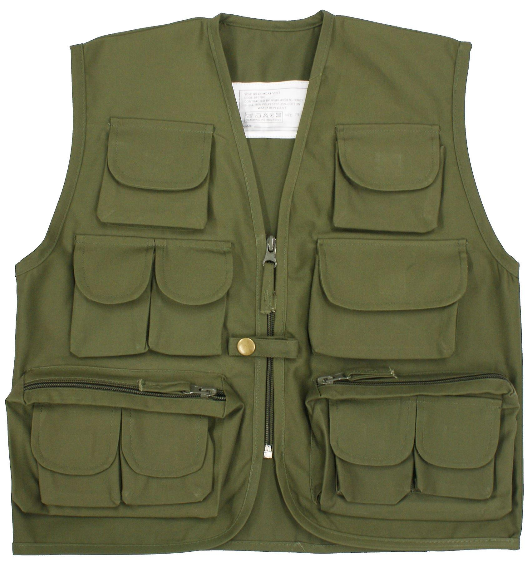 الأطفال جديدة جيب متعدد صدرية سترة الجيش الموحد