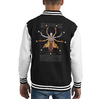 Overwatch Vitruvian Omnic Zenyatta Kid Varsity Jacket