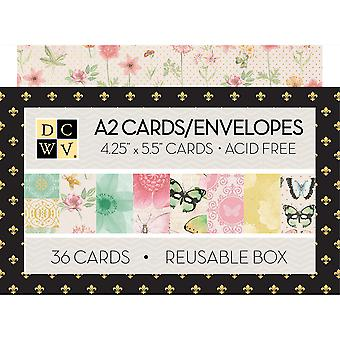 Dcwv Boxed A2 Cards W/Envelopes (4.375