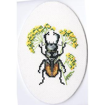 Bug On Hair's Ear Counted Cross Stitch Kit-3