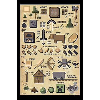 Minecraft - Pictographic Poster Print