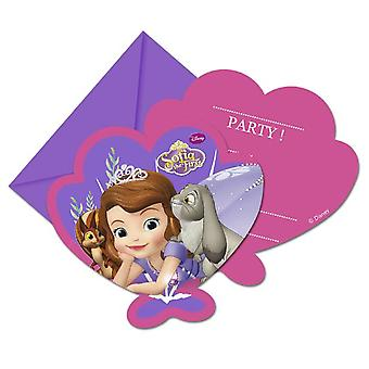 Sofia the first Mystic Isles Princess party invitation cards 6 piece children birthday theme party