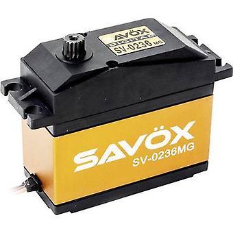 Savöx Custom servo SV - 0236MG digitales servo material de la caja de engranajes: sistema de conector de Metal: JR