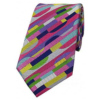 Posh and Dandy Geometric Shapes Luxury Silk Tie - Multi-colour
