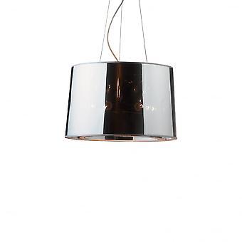 Ideal Lux London Designer Mirrored Chrome 50cm Pendant