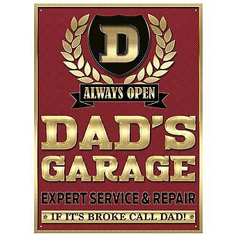 Dad'S Garage Steel Sign 400Mm X 300Mm