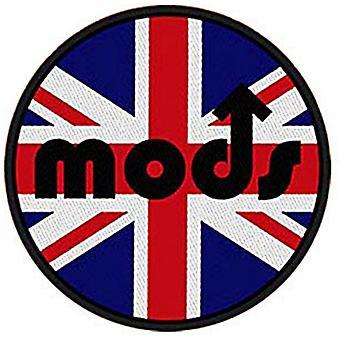 Mods Union Flag Round Iron-On/Sew-On Cloth Patch