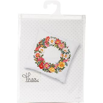 Cushion With Roses On Aida Counted Cross Stitch Kit-13.25