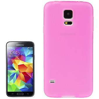 TPU case cover til Samsung Galaxy S5 / S5 neo gennemsigtig pink