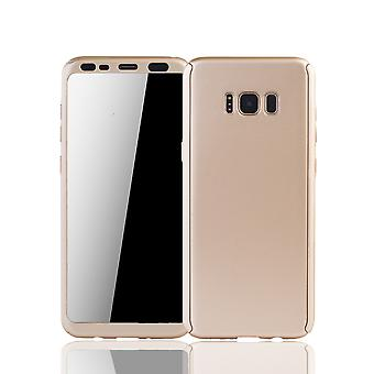Samsung Galaxy S8 mobile housing Schutzcase full cover 360 display protection foil gold