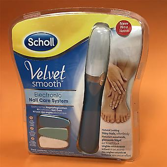 New Scholl Velvet Smooth Electronic Nail Care System Device