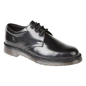 Mens Hi Shine Leather Lace Up Uniform Office Work School Formal Shoes