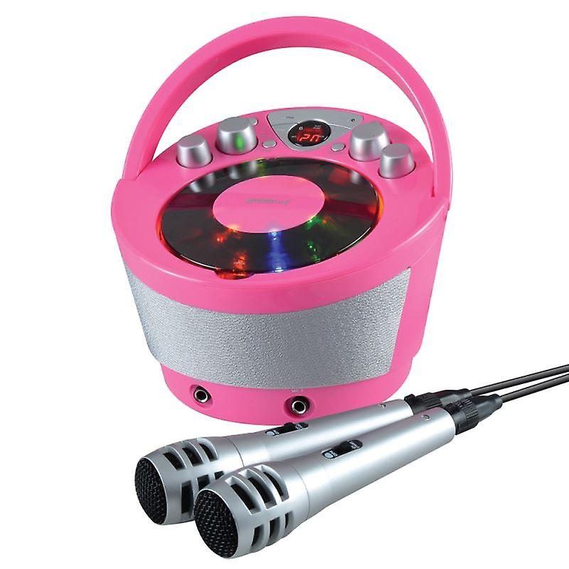 Groov-e GVPS923PK Portable Karaoke Boombox with CD Player and Bluetooth Playback