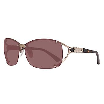 GUESS Damen Sonnenbrille Oval Gold