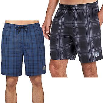 Speedo Mens Checked Swimming Swim Summer Beach Water Pool Shorts - Blue / Black