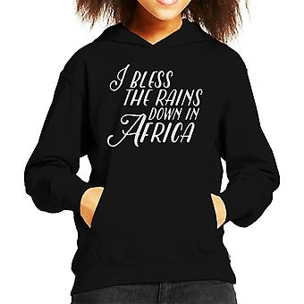 Africa Song Lyric Kid's Hooded Sweatshirt