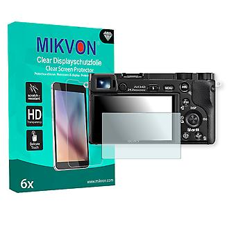 Sony Alpha 6000 Screen Protector - Mikvon Clear (Retail Package with accessories)